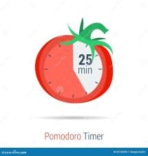 Pomodoro Timer Flat Icon Stock Illustration. Illustration
