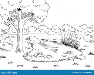 Black White Lake Stock Illustrations 10 116 Black White Lake Stock Illustrations Vectors & Clipart Dreamstime