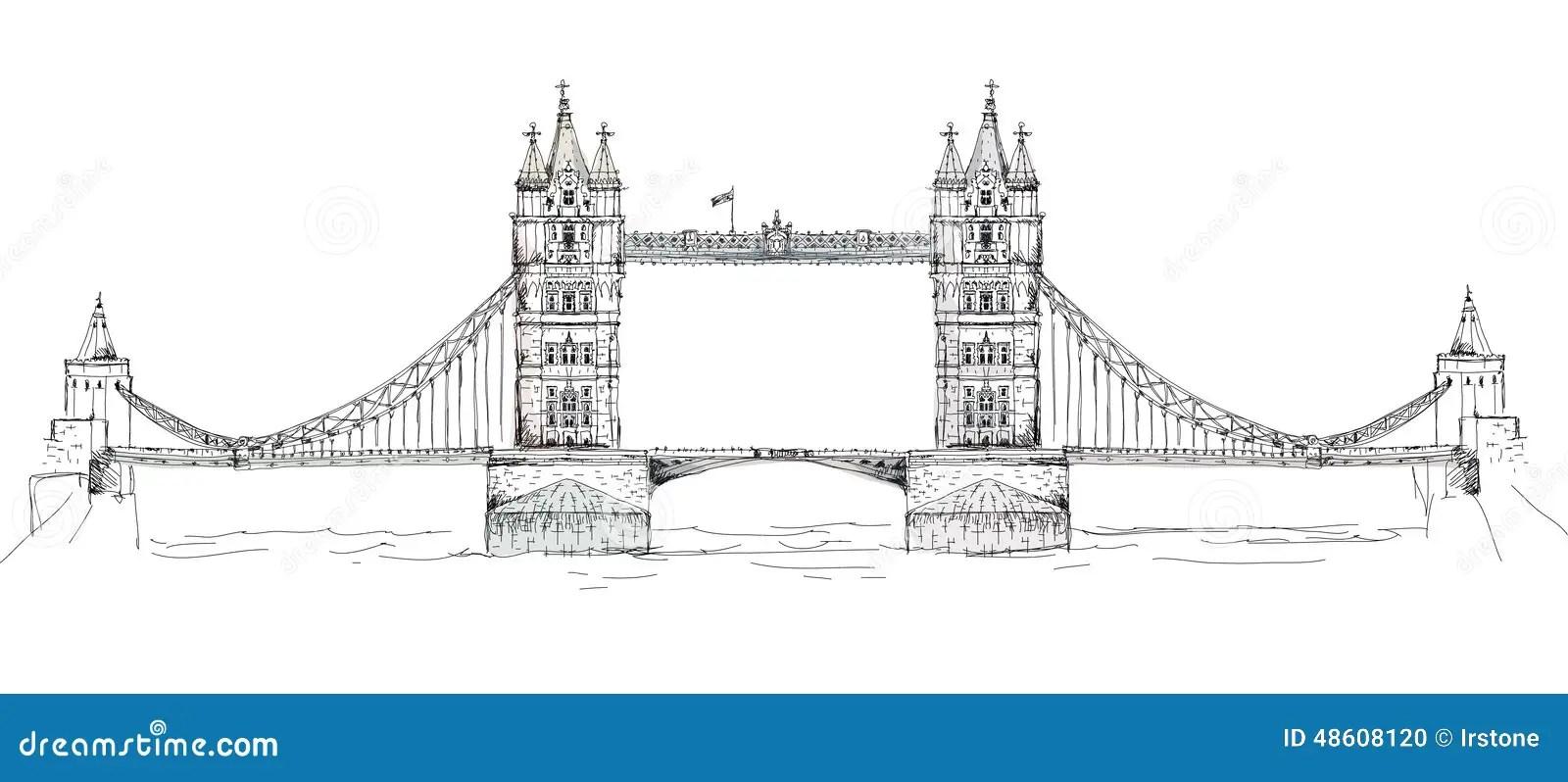 Pont De Tour à Londres, Collection De Croquis, Porte De