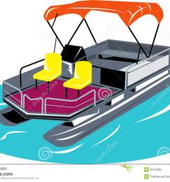 pontoon boat vector illustration of a pontoon boat isolated on white background vector illustration [ 1300 x 914 Pixel ]