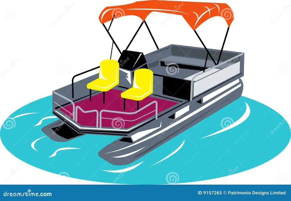 medium resolution of pontoon boat vector illustration of a pontoon boat isolated on white background vector illustration