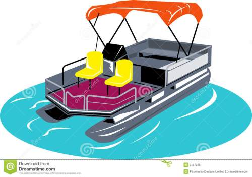 small resolution of pontoon boat vector illustration of a pontoon boat isolated on white background vector illustration
