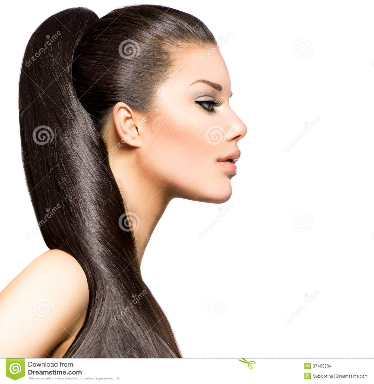 Ponytail Hairstyle Stock Images Image 37405704