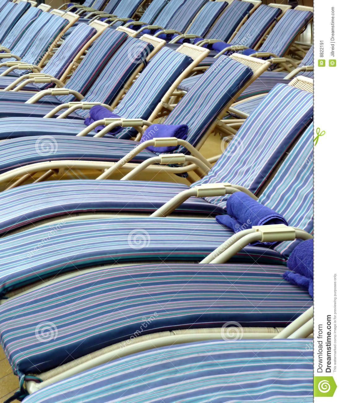 Pool Deck Chairs Pool Deck Chairs On A Cruise Ship Stock Image Image 8822191