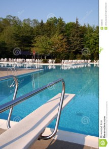 Pool With Diving Board Stock - 1233643