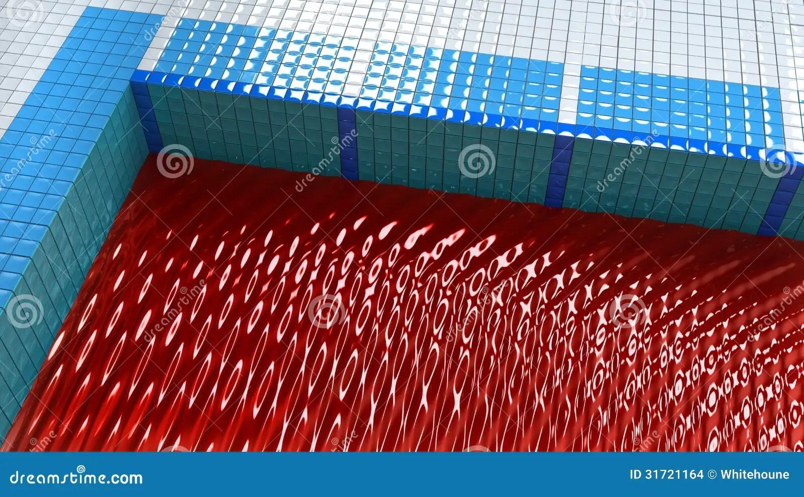 Pool full of blood stock illustration Illustration of