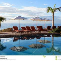 Baja Beach Chairs Cleaning Leather Pool Reflection Of Palm Trees And At Vacation