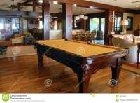 Pool Table In The Living Room Royalty Free Stock ...