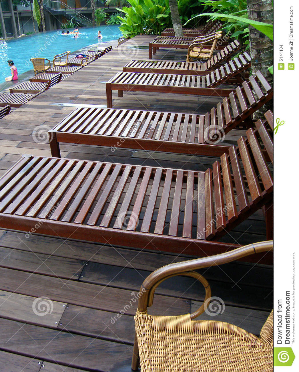 Pool Deck Chairs Poolside Deck Chairs Loungers Stock Images Image 5141104