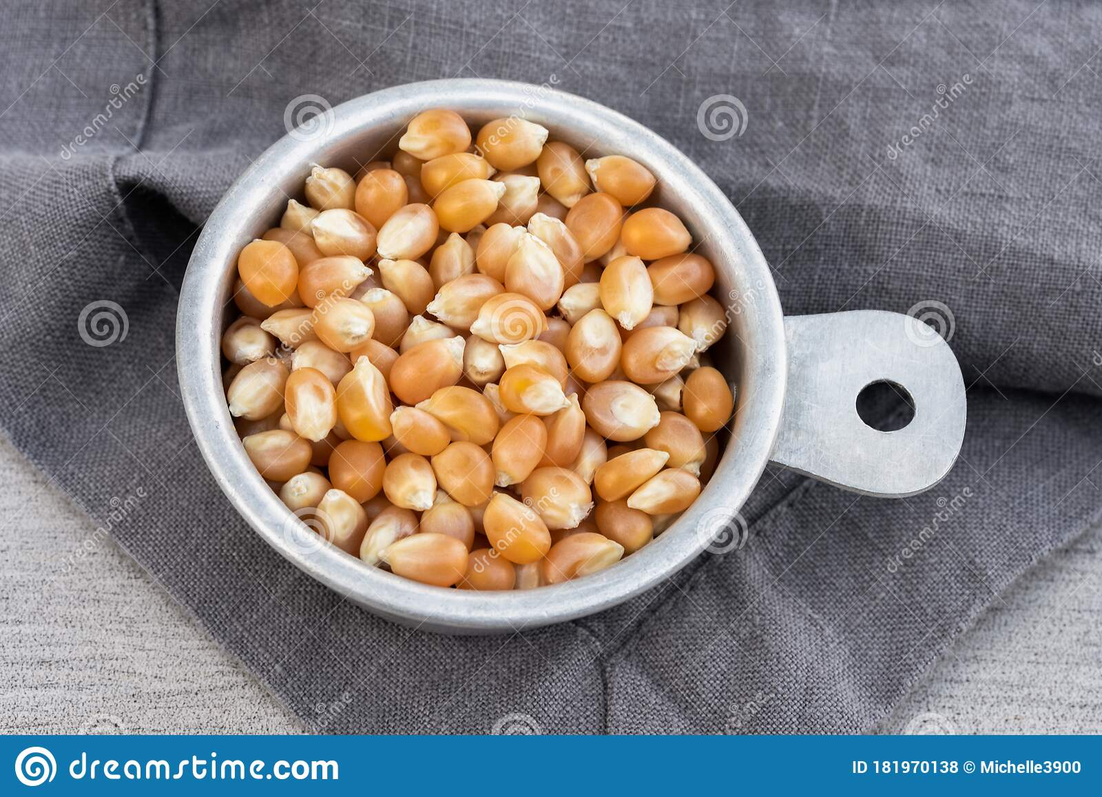 Popcorn Kernels In Measuring Cup Stock Photo - Image of ...