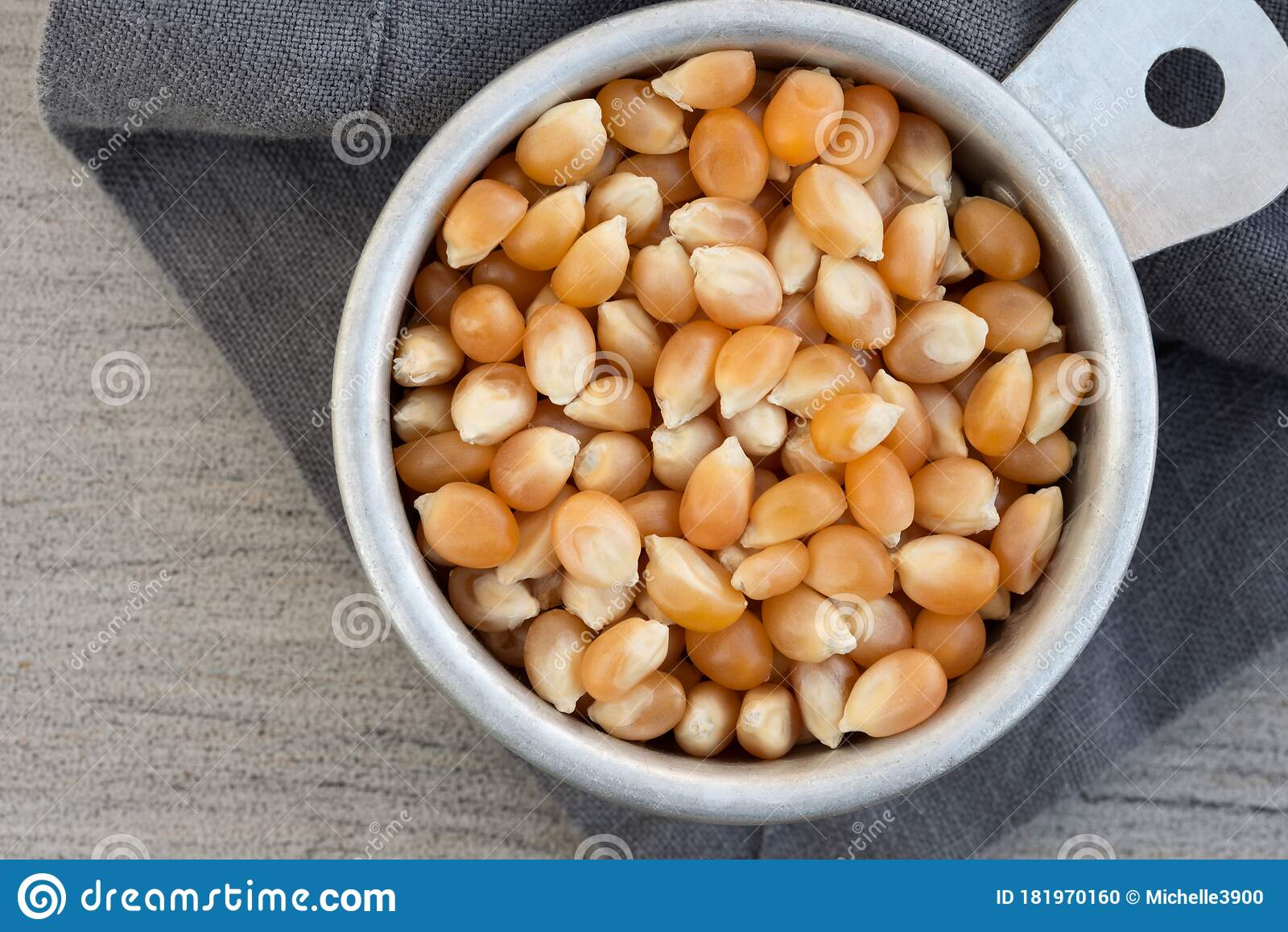 Popcorn Kernels In A Measuring Cup Stock Photo - Image of ...