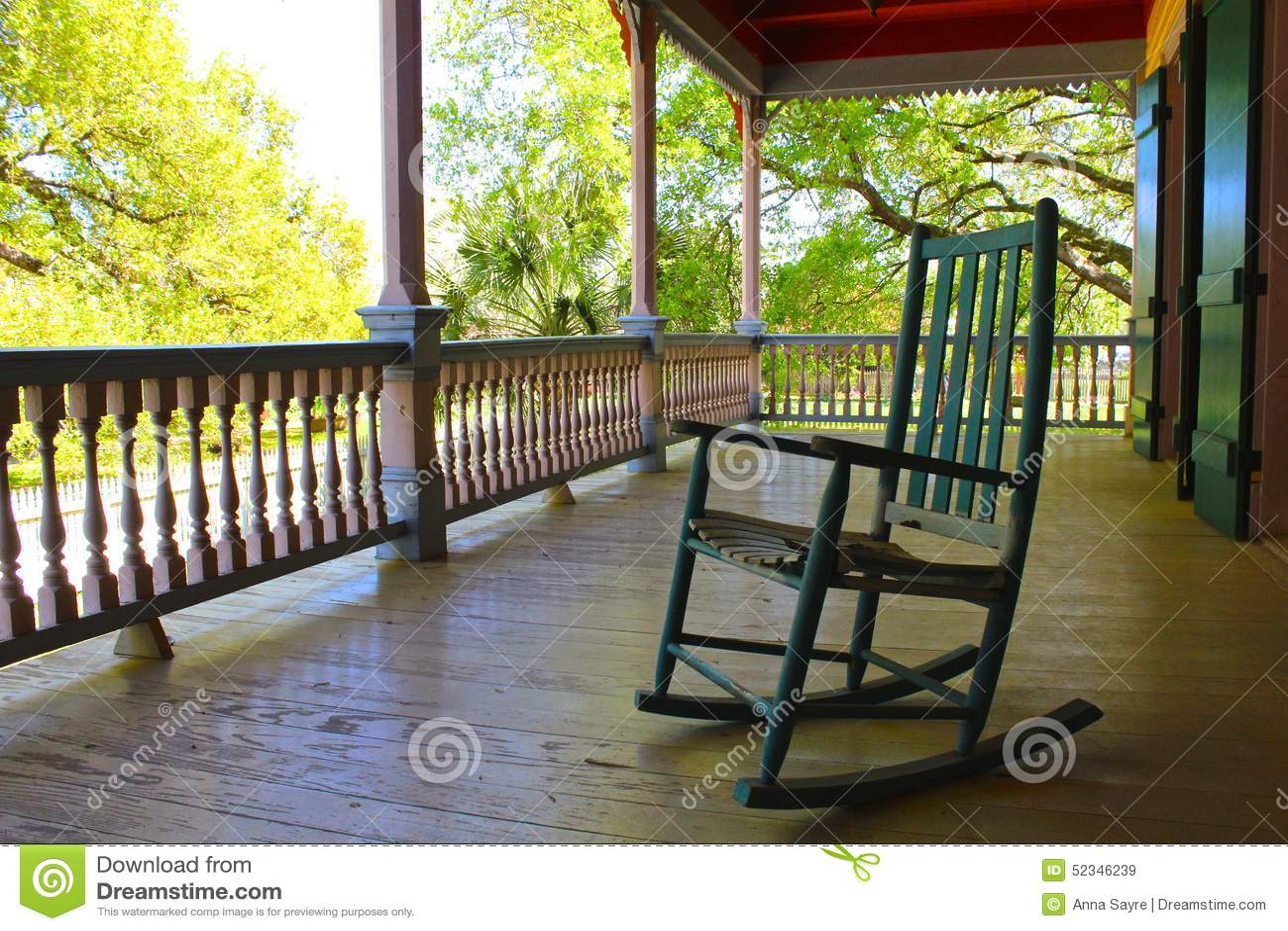 veranda chair design intex and ottoman porch stock image of southern louisiana