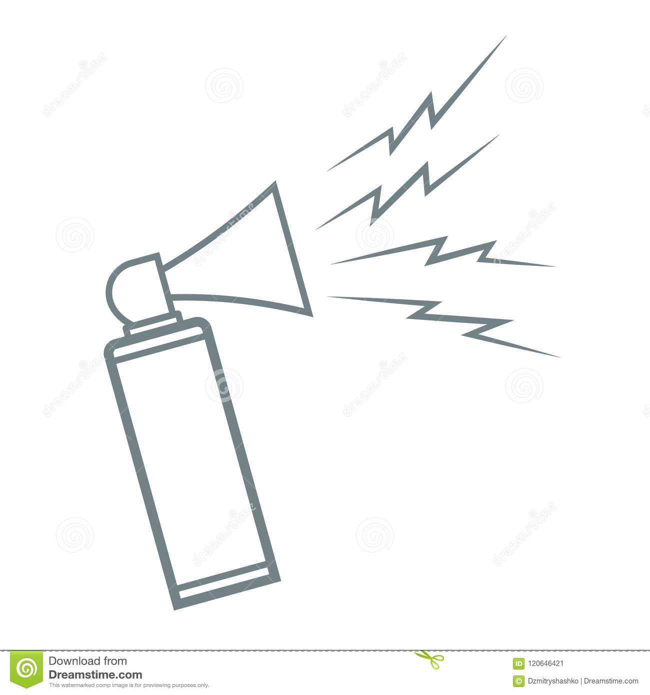 Portable Air Horn Icon Stock Vector Illustration Of Alert