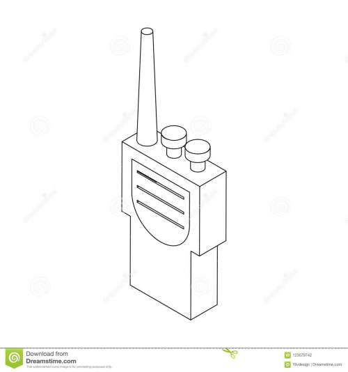 small resolution of portable handheld radio icon in isometric 3d style