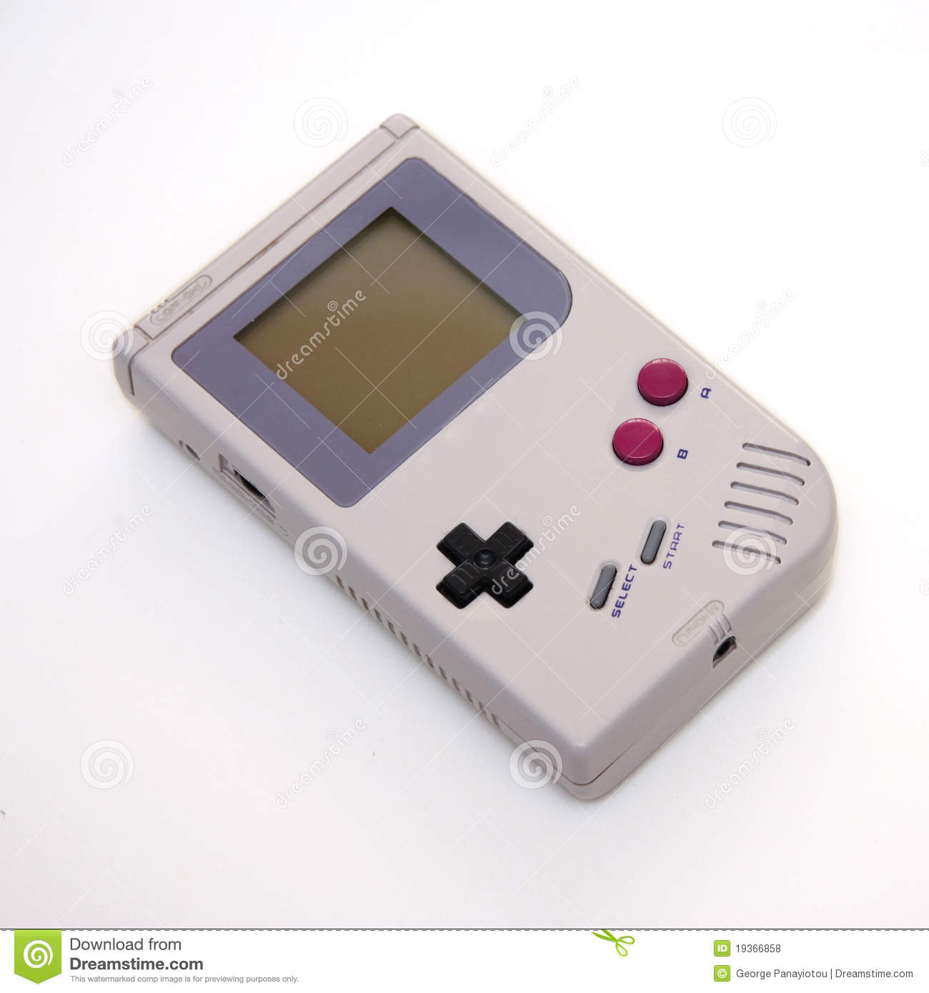 Portable Video Game Console Stock Photo