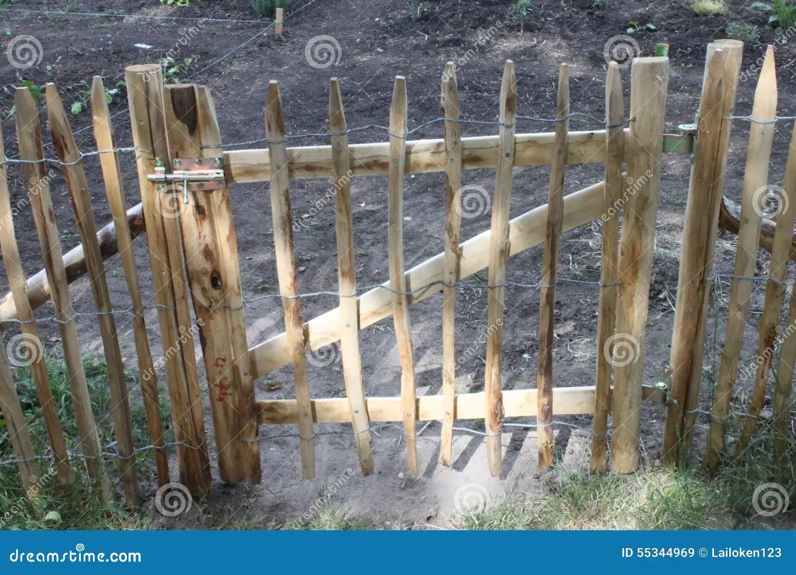 Porte De Jardin Dans La Barrire Photo stock  Image 55344969