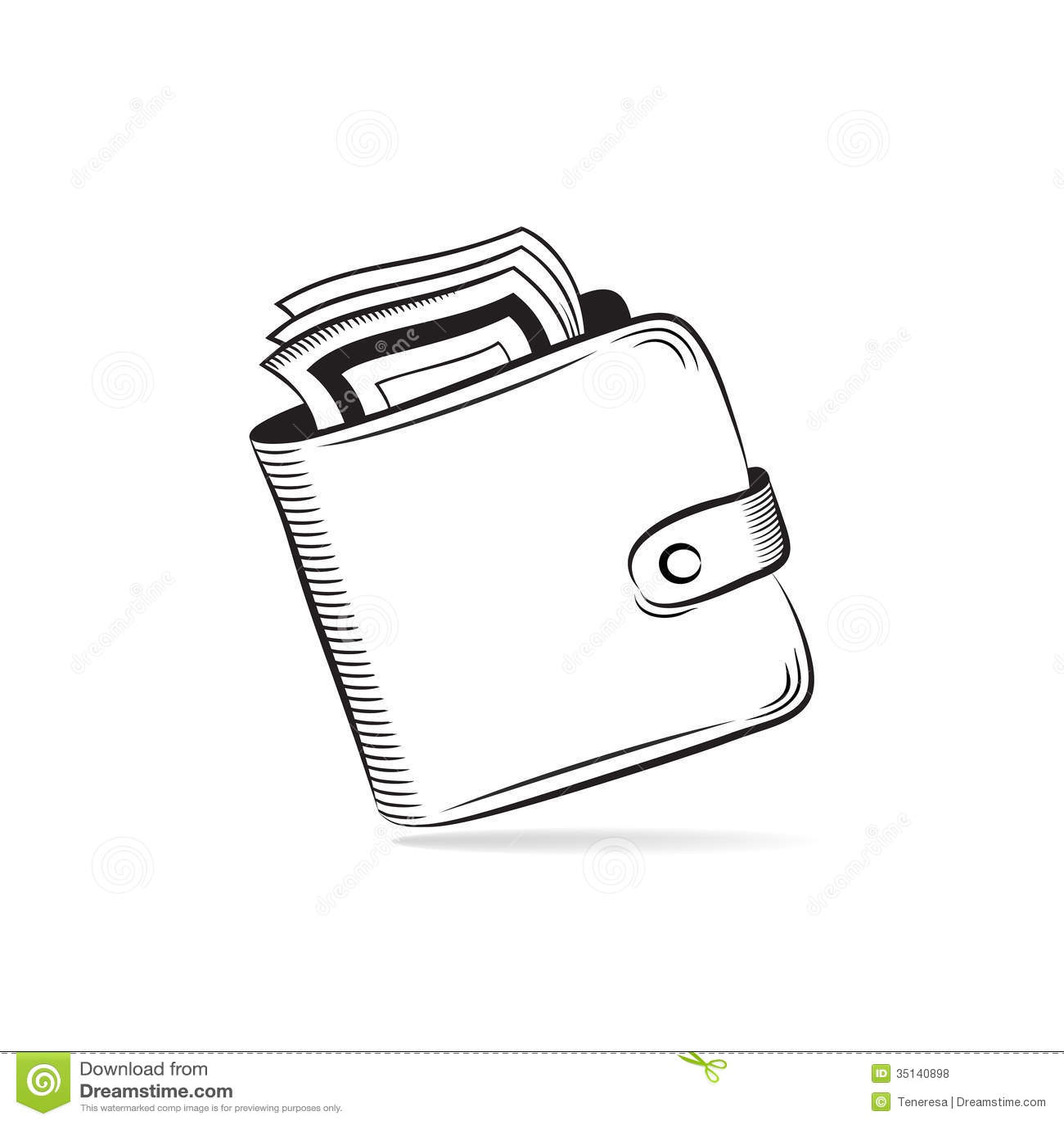 Portefeuille Avec L Icone De Vecteur Des Dollars