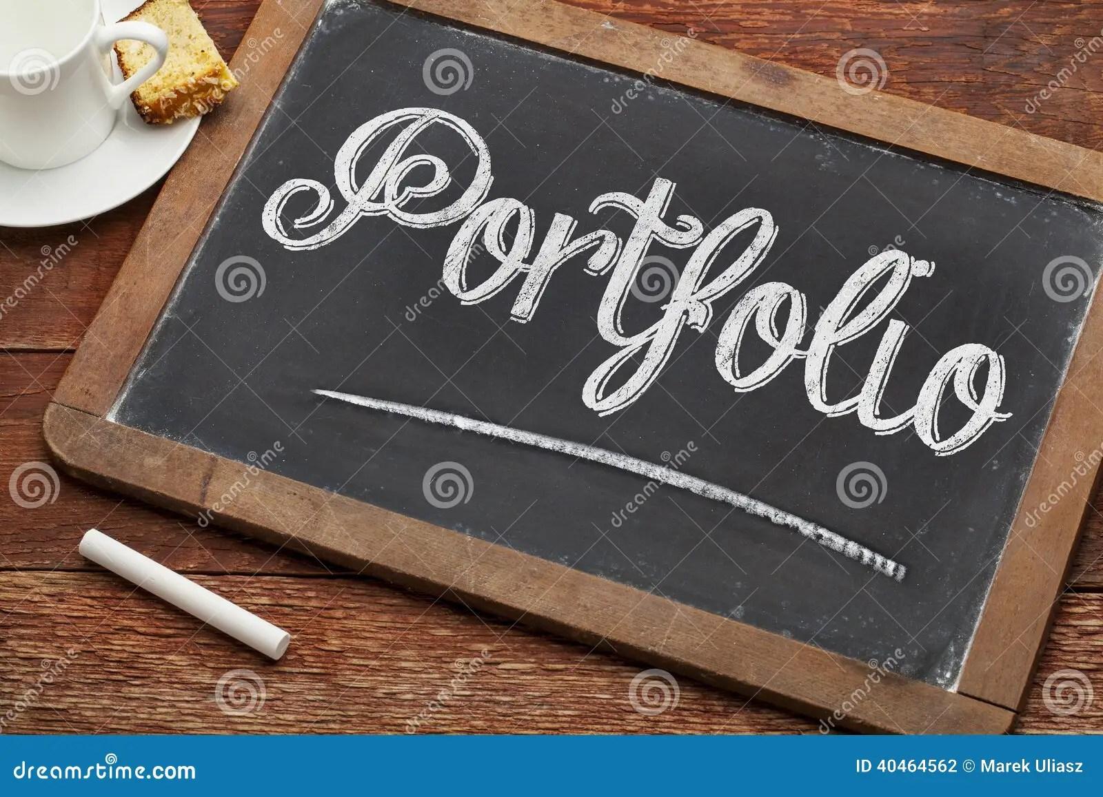 Portfolio Word On Blackboard Stock Photo Image 40464562