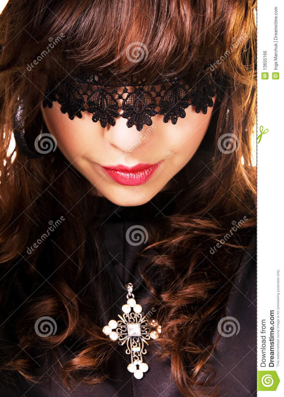 Portrait Of A Beautiful Mysterious Woman Royalty Free