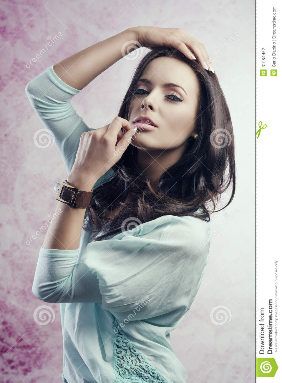 Portrait Of Caucasian Pretty Girl Stock Photo Image