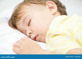 sleeping boy cute pillow portrait bed asleep