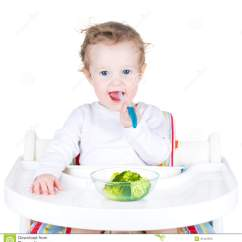 Eating Chair For Toddlers Covers Pier One Portrait Of A Cute Toddler Broccoli In White High