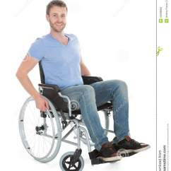 Wheelchair Man Canvas Chair Covers Nz Portrait Of Disabled On Stock Photo Image
