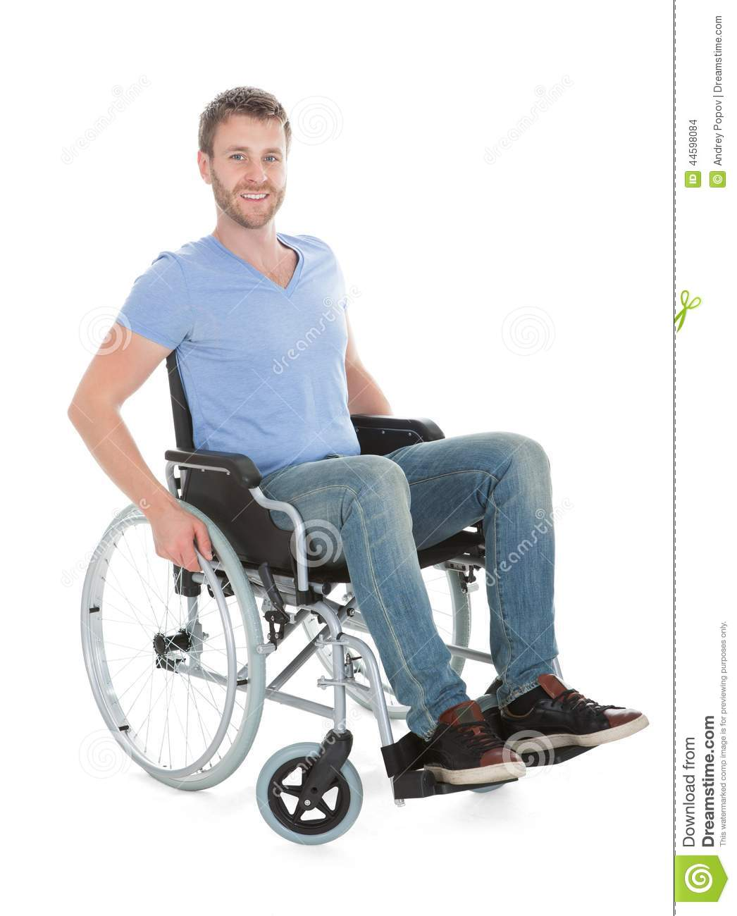 wheelchair man gliding chair for nursery portrait of disabled on stock photo image