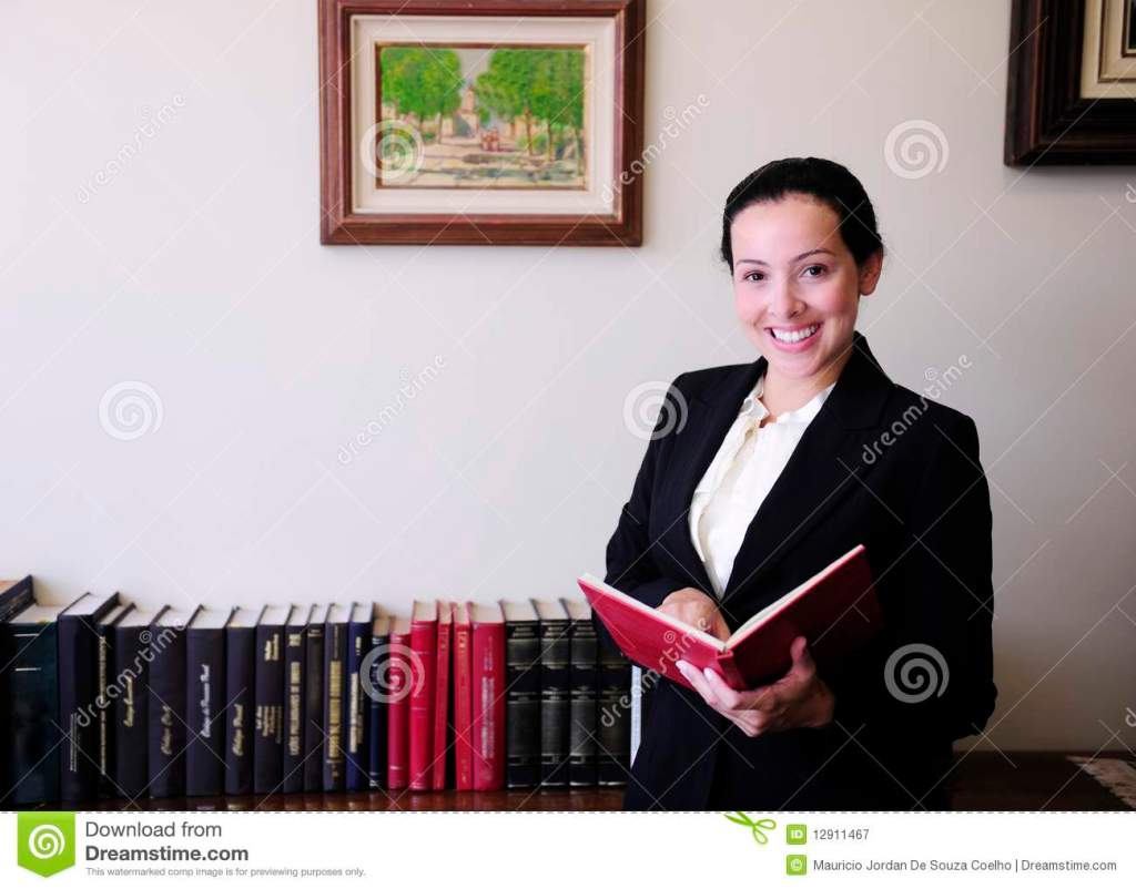 Portrait Of A Female Lawyer At Office Stock Image Image