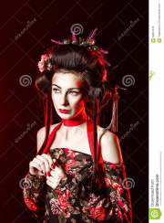 geisha hair and makeup saubhaya