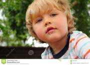 portrait of little boy stock