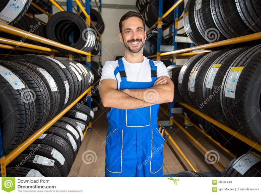 Portrait Of Male Auto Mechanic Stock Image Image 60302449