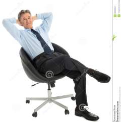 Office Sitting Chairs Discounted Portrait Of Relaxed Businessman On Chair
