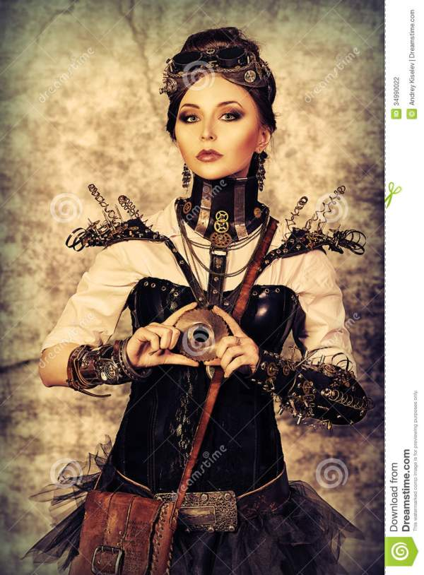 Posing Steampunk Stock - 34990022
