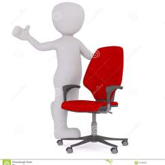 Office Chair Illustration Aeron Replacement Parts Positive Cartoon Figure With Red Stock