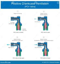 positive crankcase ventilation pcv valve stock vector turbo schematic turbo engine diagram pcv [ 1600 x 1690 Pixel ]