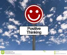 Positive Thinking Sign Stock - 35454032