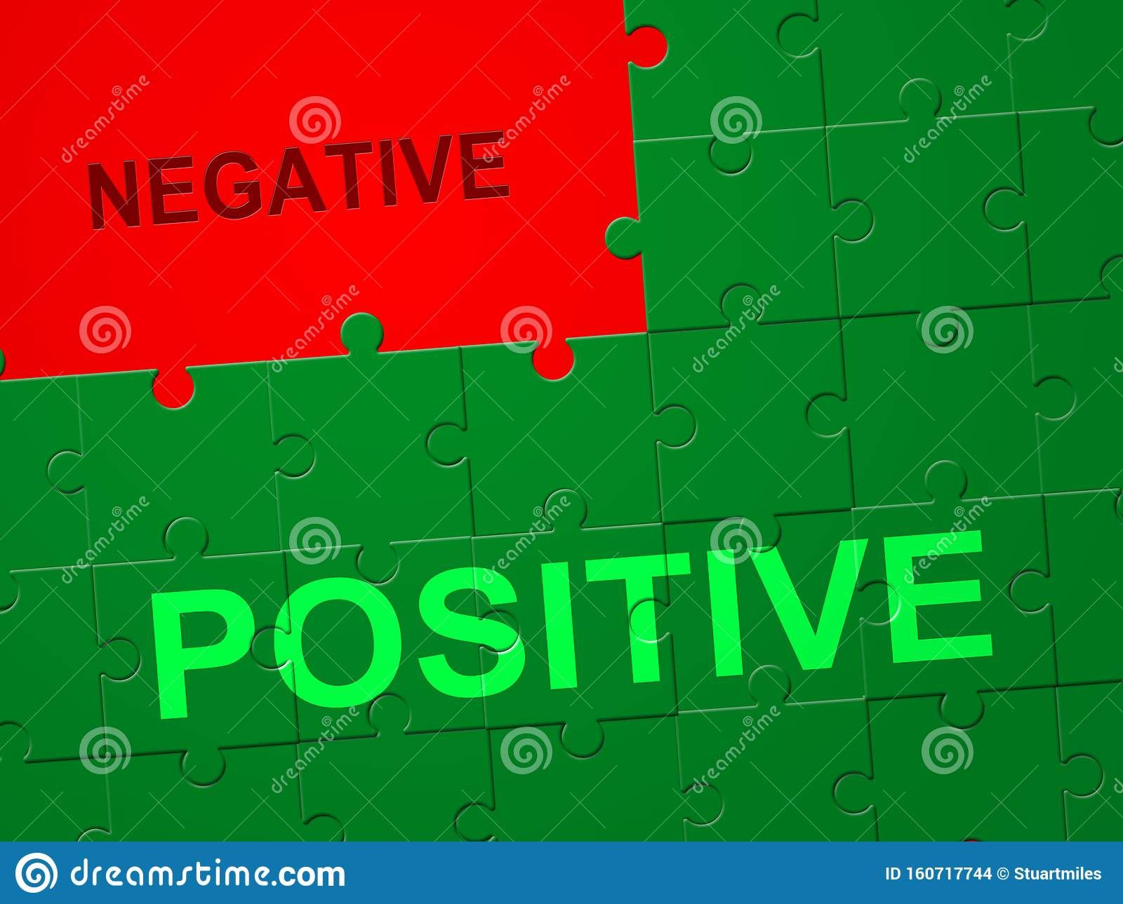 Positive Versus Negative Jigsaw Depicting Reflective State
