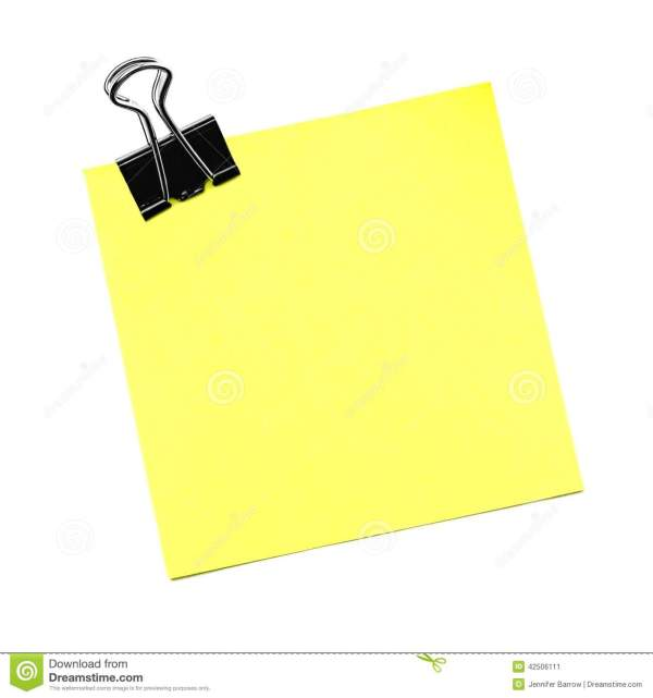 Post Note Isolated Stock - 42506111