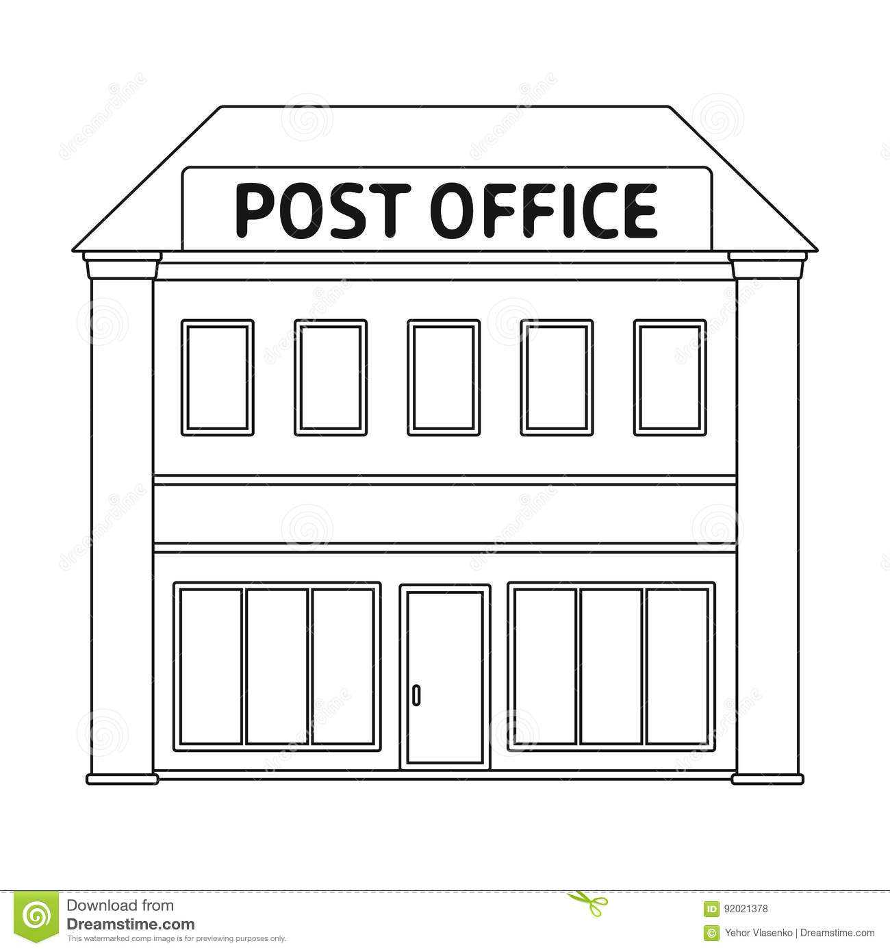 Post Officeil And Postman Single Icon In Outline Style