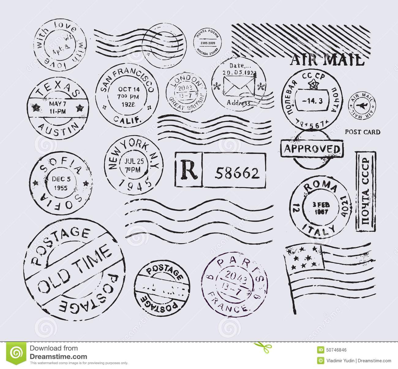 Postage Stamp Stock Vector Illustration Of Express