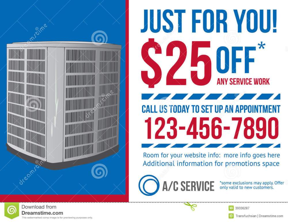 medium resolution of postcard advertisement template for hvac company stock vectorpostcard advertisement template for hvac company