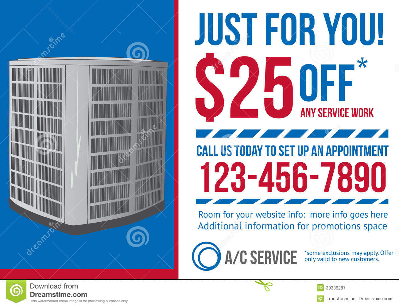 hight resolution of postcard advertisement template for hvac company stock vectorpostcard advertisement template for hvac company