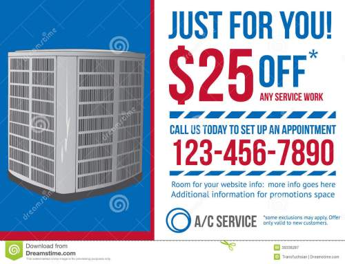 small resolution of postcard advertisement template for hvac company stock vectorpostcard advertisement template for hvac company
