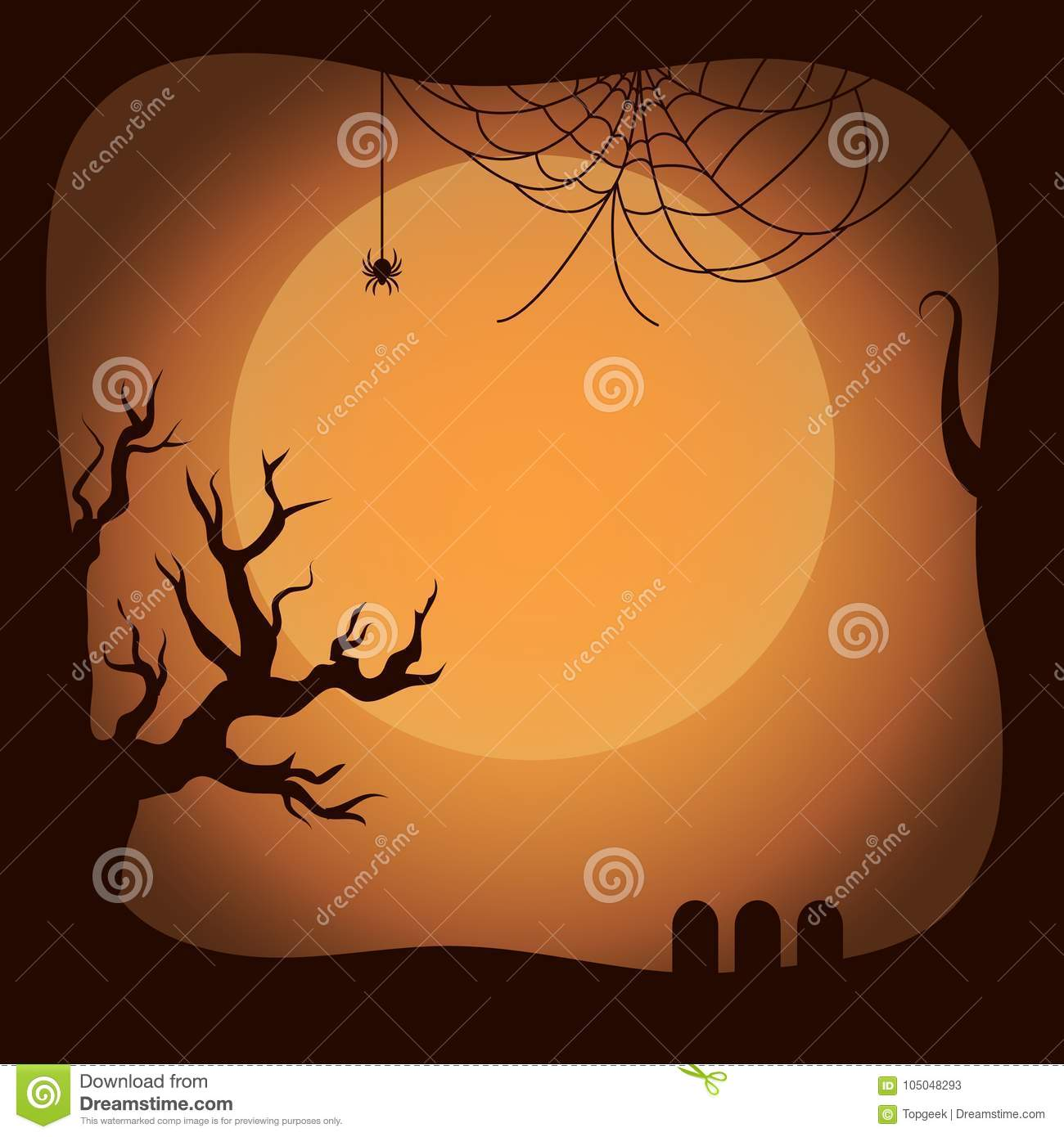Download Postcard On Halloween Template Vector Illustration Stock Vector -  Illustration Of Dreadfully, Frame: