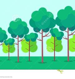 poster depicting forest trees vector illustration [ 1300 x 740 Pixel ]