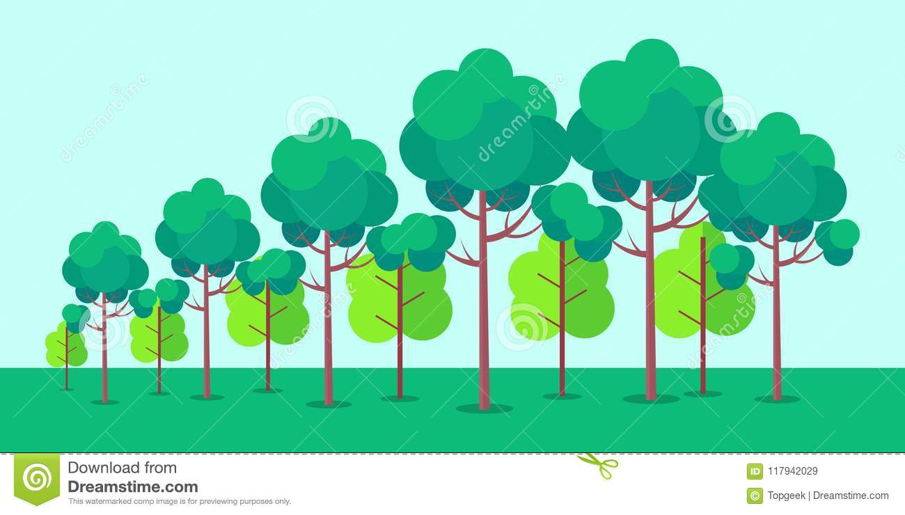 hight resolution of poster depicting forest trees vector illustration