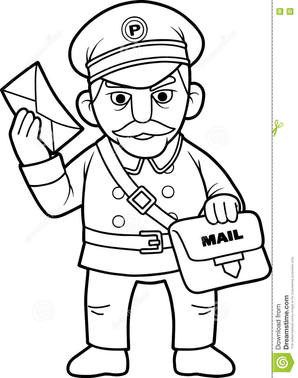 Postman Delivered The Important Message Stock Vector