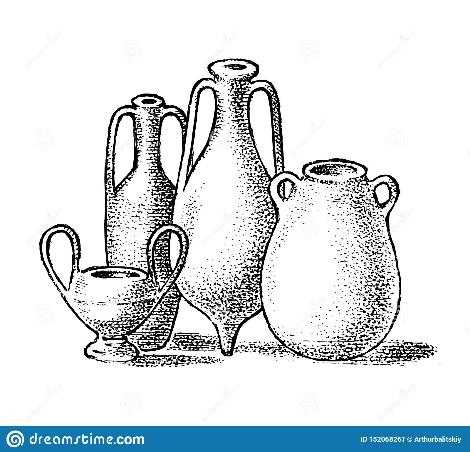 Pottery Of Ancient Greece Greek Clay Pots Or Vases In