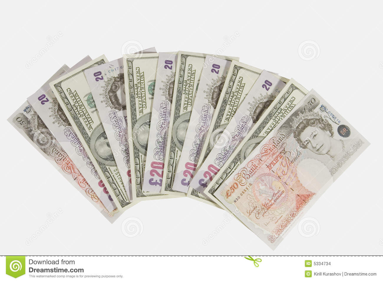 Pounds and dollars editorial stock image. Image of banknotes - 5334734